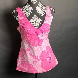 Lilly Pulitzer floral Sleeveless tunic Blouse